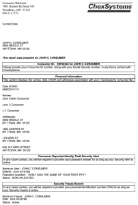 chexsystems sample report