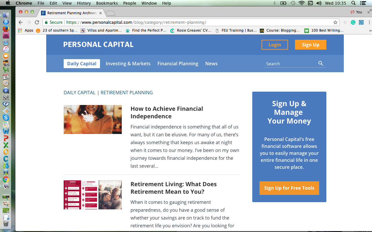 personal capital retirement